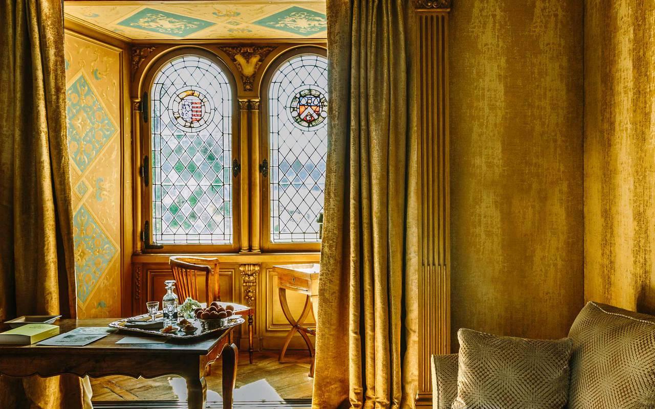 Window in soleil levant room - hotels in dordogne