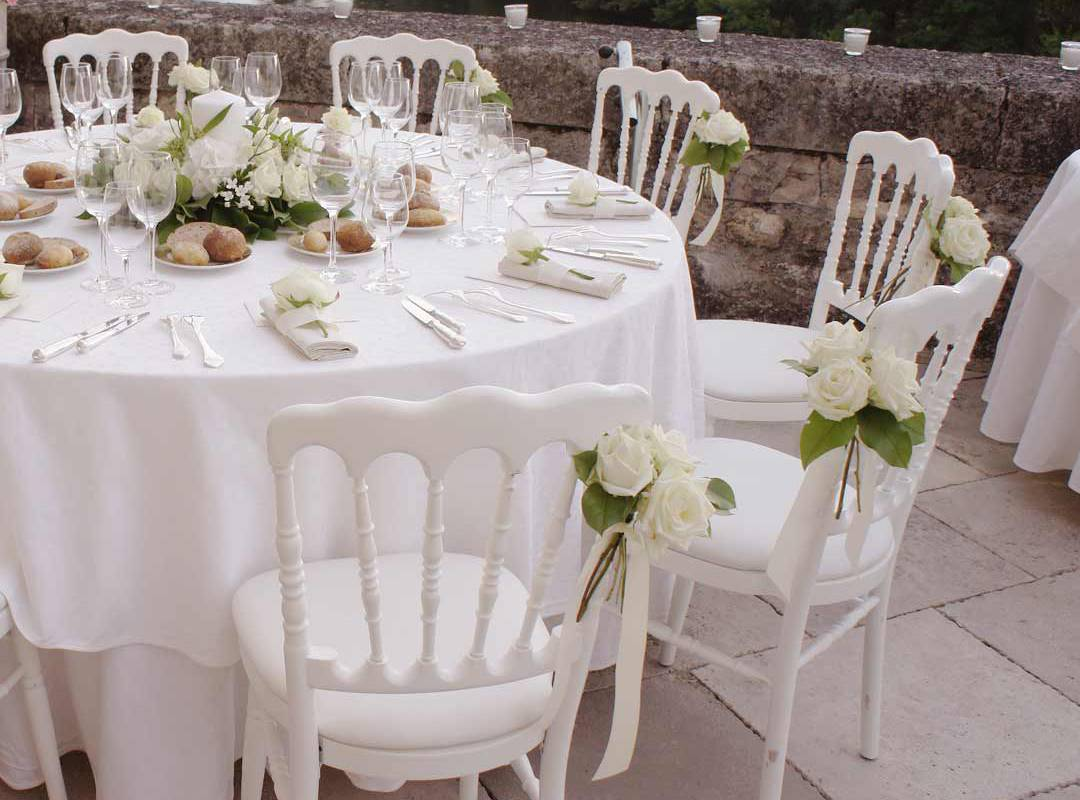decorated table Luxury hotel for wedding