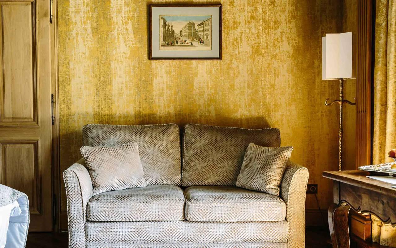 Sofa Soleil Levant Room - Charming hotel Dordogne