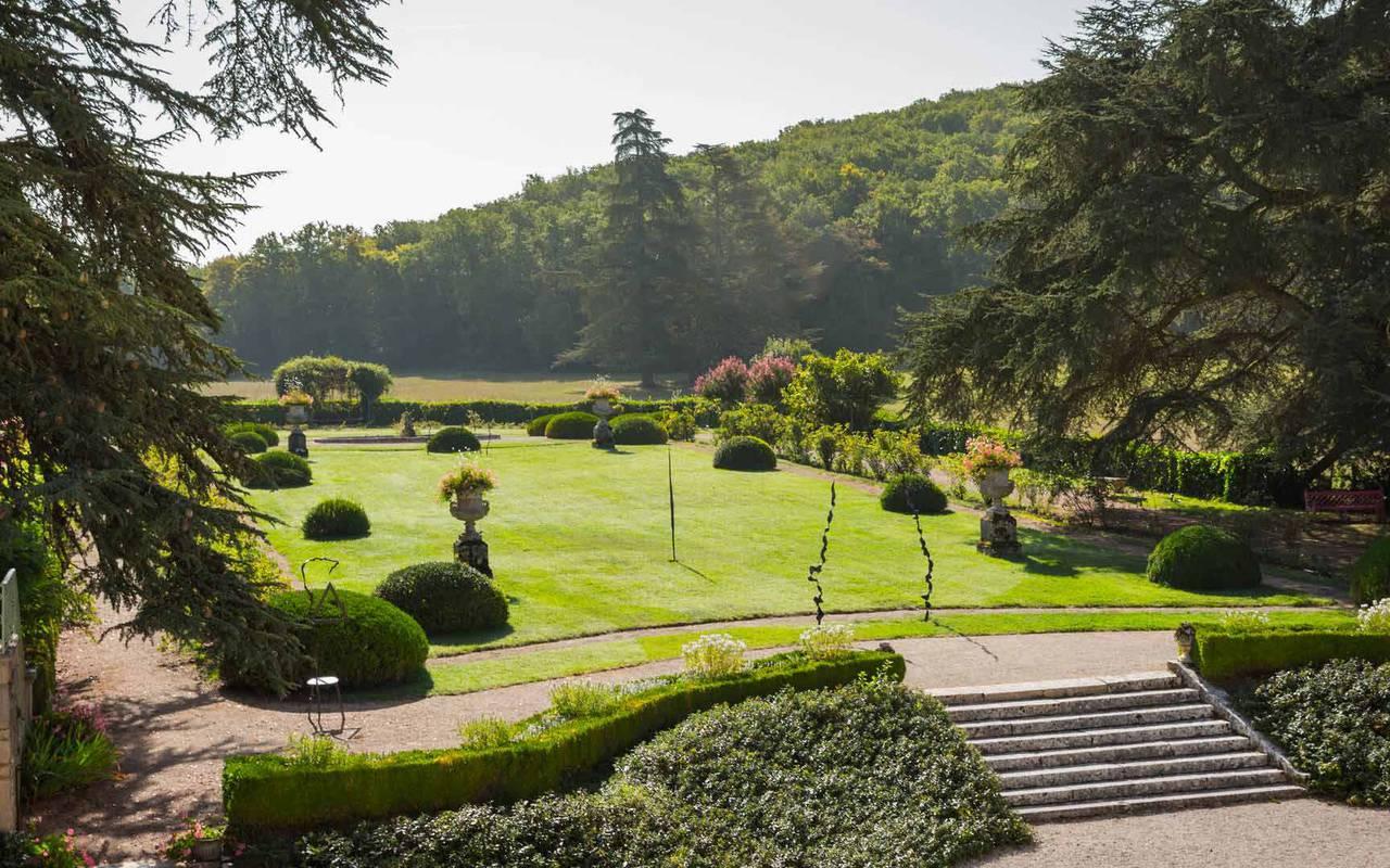 Garden view Gothic room - hotel Dordogne