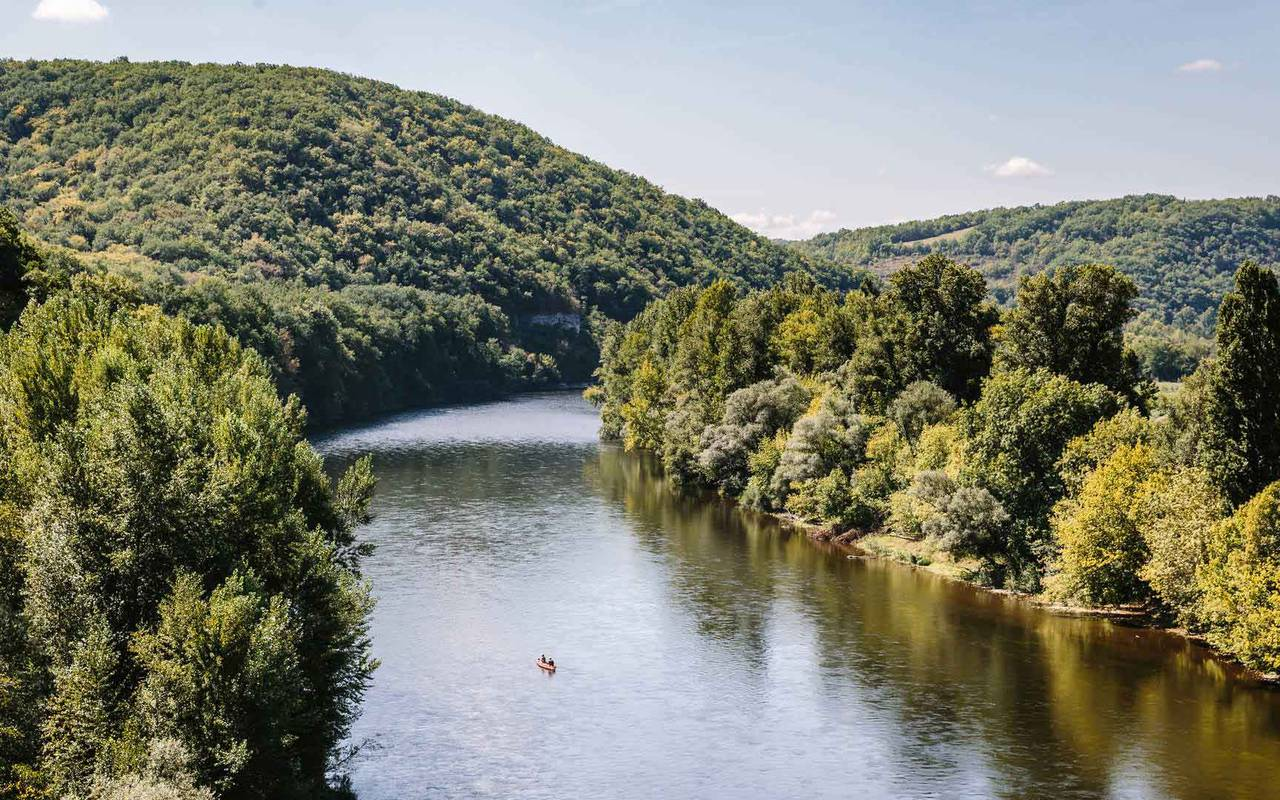View in the Dordogne Valley - Chateau hotel Lot