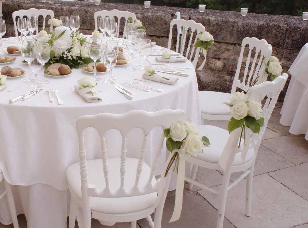 table décorée hôtel de luxe pour mariage