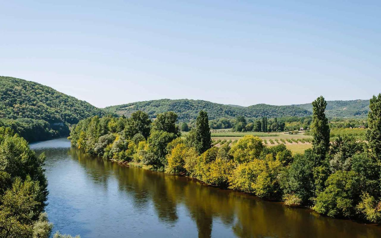 Bord de la Dordogne - Château de la Treyne