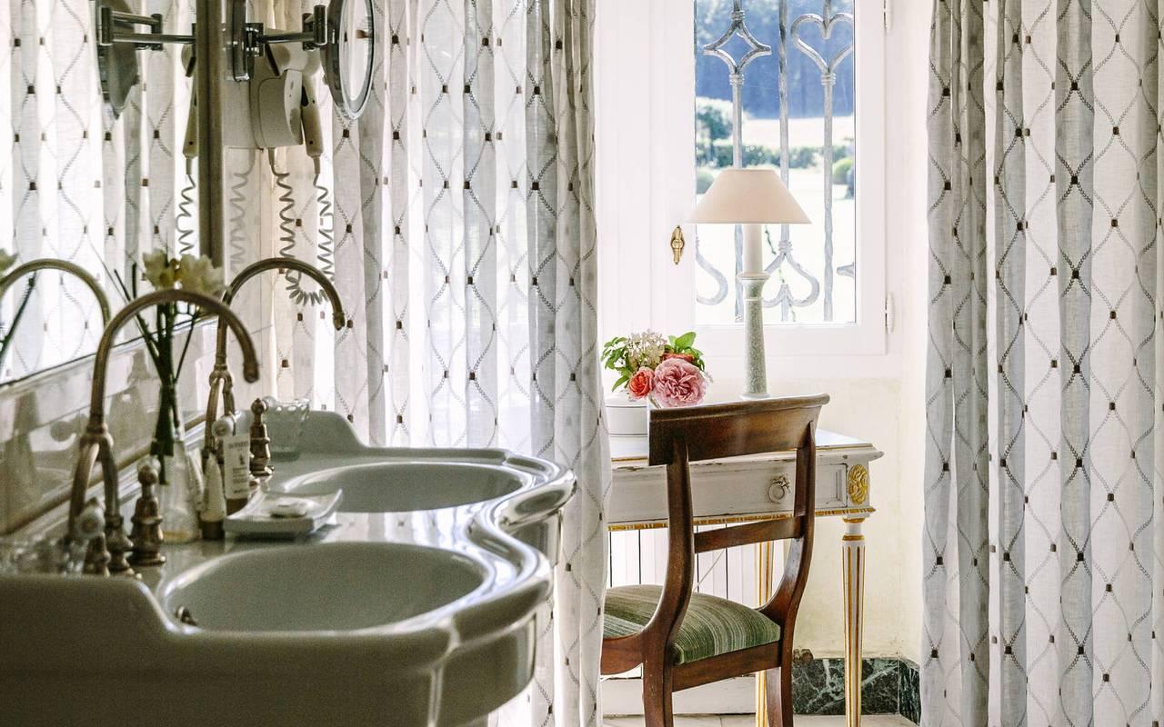 Salle de bain de charme chambre Empire