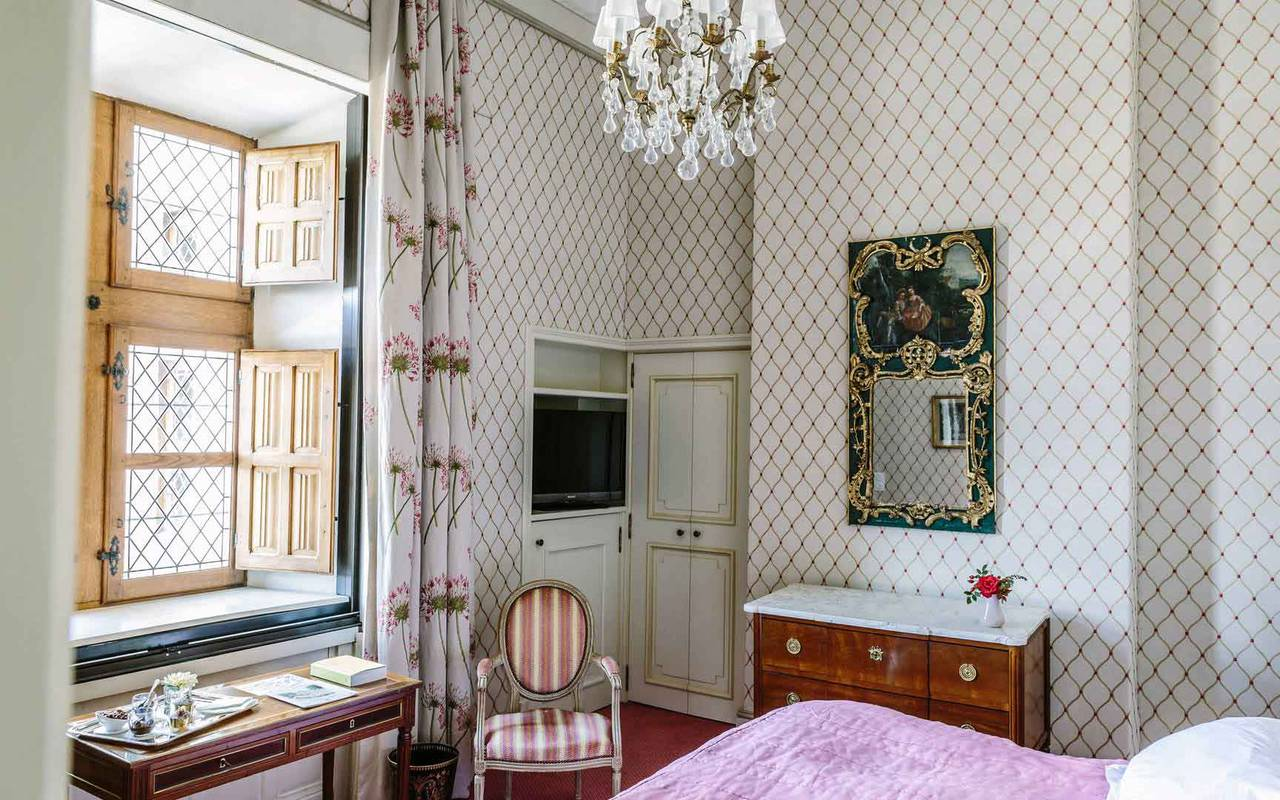 Chambre Louis XVI - Hôtel de charme Dordogne
