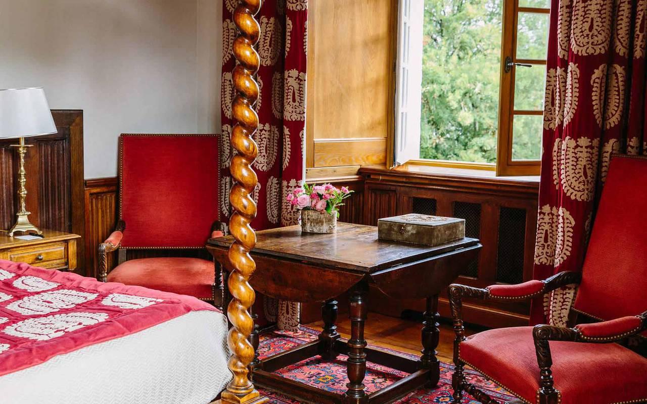 Vue chambre gothique - hôtel de charme Dordogne
