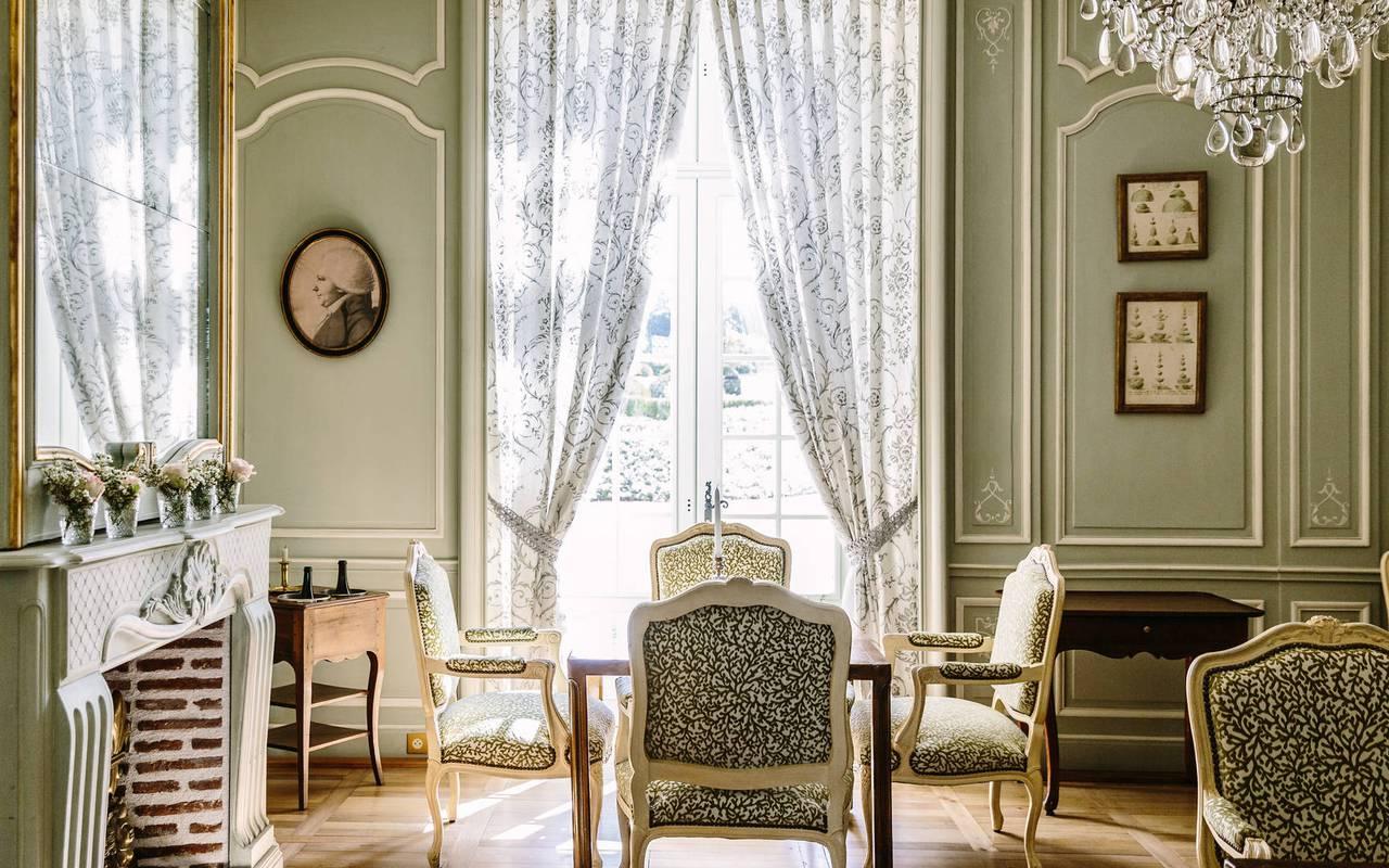Salon hôtel 4 étoiles Dordogne Château de la Treyne