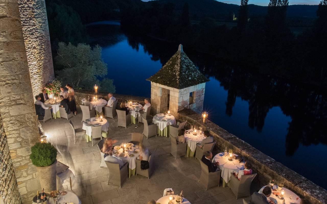 Terrasse du restaurant - hotel lot