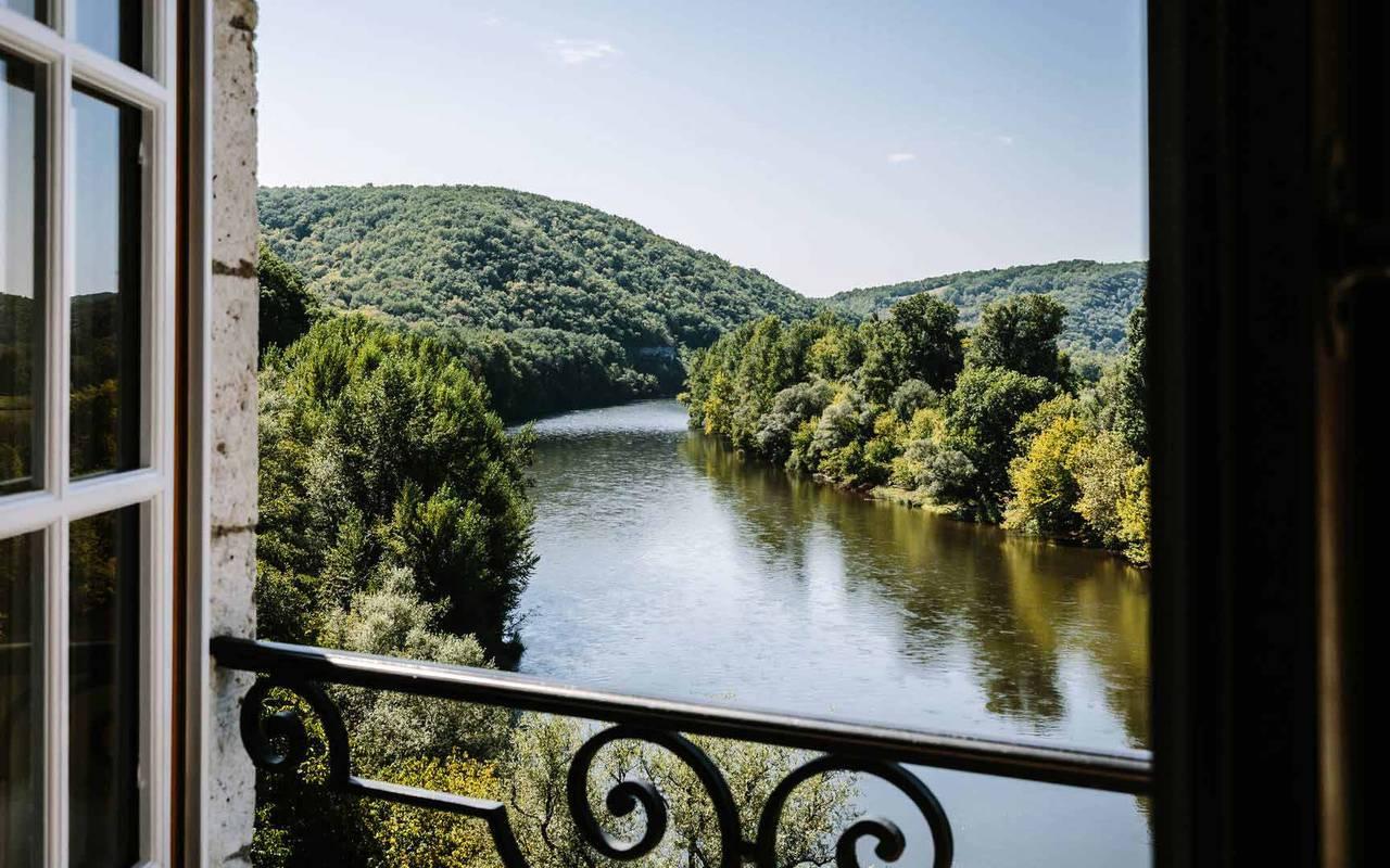 Vue sur la vallée de la Dordogne - Chateau de la treyne