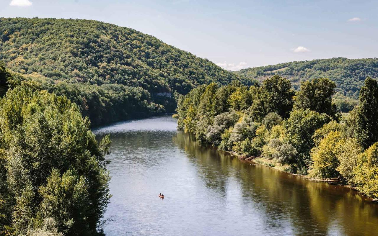 Vue sur la vallée de la Dordogne - Chateau hotel Lot