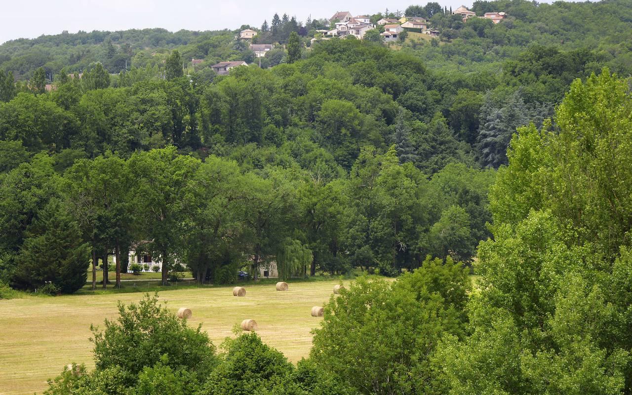 Paysage de Dordogne - hotel de luxe lot
